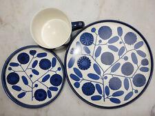 Melitta Stockholm Kobaltblüte blau  Kaffeetasse Untere Kuchenteller Lilo Kantner