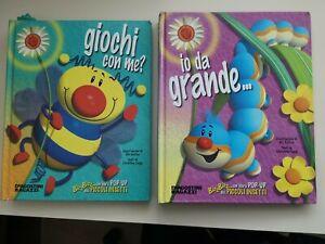 DUE libri Pop-Up dei piccoli insetti - 2003 / LIBRO Pop-Up Deagostini