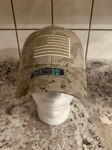 Highland Tactical Desert Camo Flag Mesh Snapback  Cap - OSFM