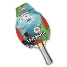 TSUNAMI Table Tennis Ping Pong Bat Classic 4 star Bat PIM-IN Rubber 1.8 mm Gift