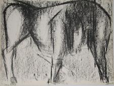 """""""Le taureau 2"""" Lithographie signée Isa PIZZONI"""