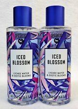 2 Victoria's Secret Pink ICED BLOSSOM Lychee Bloom Fragrance Mist Body Spray