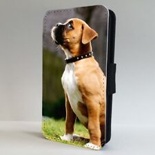 Puppy Boxer Dog Sneaky Face FLIP PHONE CASE COVER for IPHONE SAMSUNG