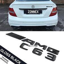Carta De Tronco De Arranque Trasero Negro Emblema Insignia Para W204 Clase C C63 AMG pegar en ABS