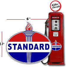 """6"""" OLD STANDARD TORCH GAS PUMP OIL TANK DECAL LUBSTER"""