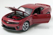 Chevrolet Camaro ZL1 in Dark Red, Welly 24042, scale 1:24, model adult boy gift