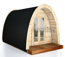 North Log Luxury ISO Camping Pod 2,4 x 4,8m House Holiday Garden Shed