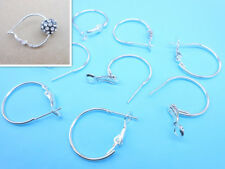 Wholesale 20PC 20MM DIY Jewelry Making Findings Silver Circle Hoop Earrings Hook