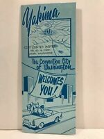 1955 Yakima City Center Motel Convention City of Washington Travel Brochure Map