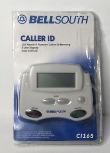 Bell South Caller ID CI-I65 3 Line Display 125 Memory Real Time Clock Open Box