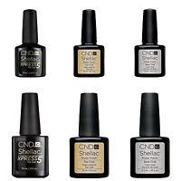 CND Shellac Nail Polish Choose Top, Base Coat, XPRESS5 or Top & Base Coat Set UK