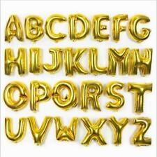 """Giant 30"""" Gold/Silver Foil Letters Air Fill Age Name Message balons BALOONS"""