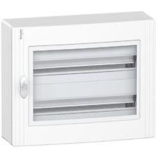 SCHNEIDER C24 SWITCHBOARD WALL IP40 WHITE TRANSPARENT DOOR 48 MODULES (2X24) I