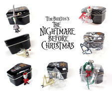 Nightmare Before Christmas Yujin Mini Figure Ornament Toy Keychain Metal Tin