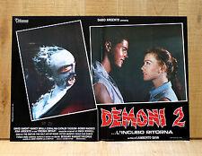 DEMONI 2 fotobusta poster Lamberto Bava Dario Argento Zombi Horror 1986 BX36