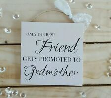 Handmade christmas plaques sign gift presents friend best godmother cream quote