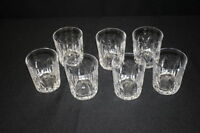 7pc VAL ST LAMBERT Double Old Fashioned EXECUTIVE Cut Crystal Rocks Bar Glasses
