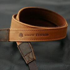 3MATIN Camera Leather Neck Shoulder Strap Vintage-20 Tan for D-SLR RF Mirrorless