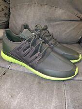 Adidas Tubular Radial Gray Grey Green Shadow Lime S75394 Runner Originals sz 19