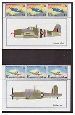 Solomon Is. -  SG 1269/72 x 3 - u/m - 2009 Naval Aviation - Marginal Blocks