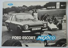 FORD ESCORT MEXICO MK1 orig c1971 Belgian Mkt Sales Brochure Depliant in French