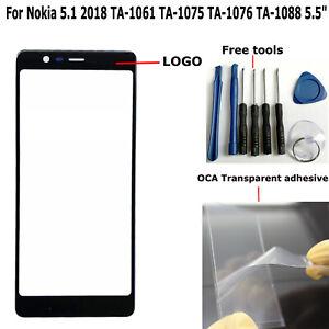"5.5"" For Nokia 5.1 2018 TA-1061 TA-1075 TA-1076 TA-1088 Outer Front Screen Glass"