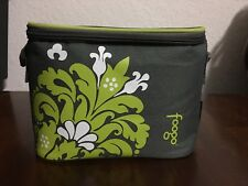 THERMOS FOOGO Baby Bento Insulated 8-Ounce Food Jar Valencia Charcoal Lime Green