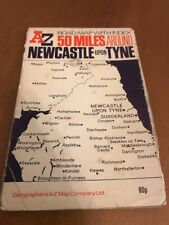 AZ 50 Miles Around Newcastle Upon Tyne