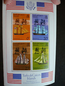 Stamps - Turks & Caicos Islands - Scott# 314a - Souvenir Sheet