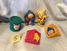 Winnie The Pooh Baby's First Blocks Soft Rubber Squeaky Disney Figures Vintage
