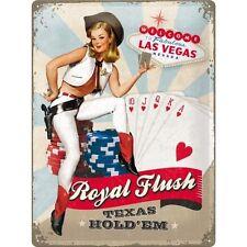 Nostalgie Blechschild -Royal Flush - Blechschilder