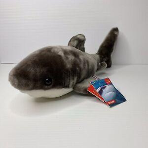 AURORA TIBURON SHARK Plush Soft Toy Bean Bag Body 30cm Flopsies Range