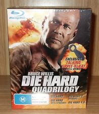 Die Hard Quadrilogy (4-Movie Collection) Blu-ray 4-Disc Boxset New & Sealed