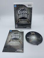 Guitar Hero: Metallica (Nintendo Wii, 2009) Complete with Manual. Excellent CIB