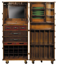 "Stateroom Bar Ivory Steamer Travel Trunk 58"" Home Pub Nautical Furniture New"