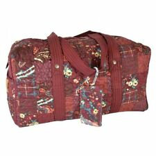 "Donna Sharp ""Autumn"" DUFFLE BAG (SMALL) 16"" x 9"" x 9"" NWT"
