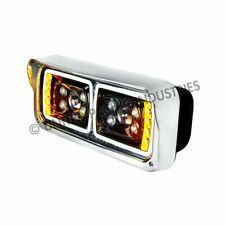 Pair All LED halo projection Headlights kenworth Peterbilt universal blacked out