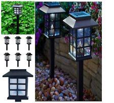 6-Pack Solar LED Pathway Light Set Outdoor Walkway Yard Path Landscape Lighting