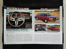 1975-1981 Volkswagen VW Sirocco - 6 Page Article - Free Shipping