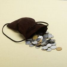 Medieval Larp Pagan Reenactment Money Bag Drawstring Coin Wallet Mini Bag Purse