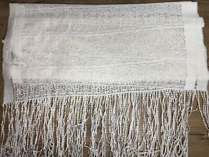 Phase Eight Cream Lace Tassel Scarf