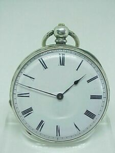 Antique silver Victorian pocket fob watch 1890s