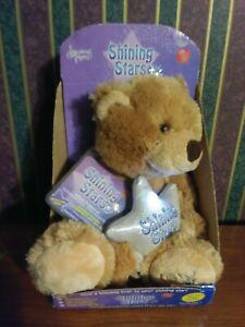 Brand New In Sealed Bag Russ Shining Stars musical stuffed Plush bear Singing