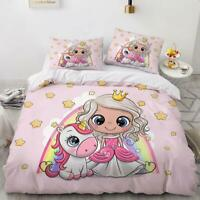3D Cartoon Princess Unicorn KEP5683 Bed Pillowcases Quilt Duvet Cover Kay