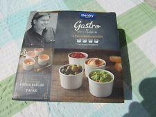 James Martin DENBY Gastro Set of 4 White Ramekin Dishes