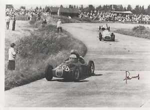 ROGER LAURENT - ORIG SIGNED PHOTO: DECEASED F1-GP-DRIVER
