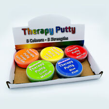 Therapy Putty Professional Set of 5 Resistances Squeezable, Hand Exercise 57g