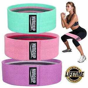 NVRGIUP Exercise Resistance Bands for Legs and Butt, Green, Pink, Purple