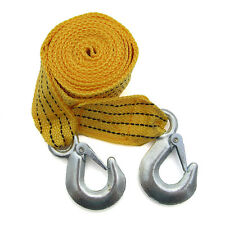 3 Tons Car Tow Cable Towing Strap Rope with Hooks Heavy Duty 6 Ft