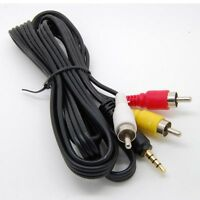 3.5mm to RCA AV  TV Video Cable Cord For Mach Speed Trio MP3 MP4 Media Player_sx